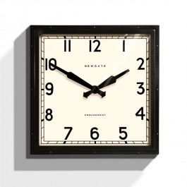Newgate Embankment Wall Clock Black