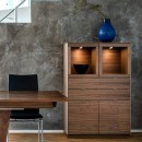Skovby Walnut Display Cabinet #923 (lifestyle)