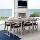 Skovby White Oiled Oak Dining Chair #91 (lifestyle, shown here with 'Skovby Oak Extending Dining Table #38')