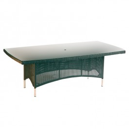 Woven Glass Top Table - Valencia Ebony