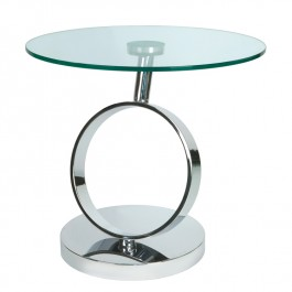 Round Glass Side Table - Magic