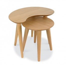 Oak Nest of Side Tables - Oslo