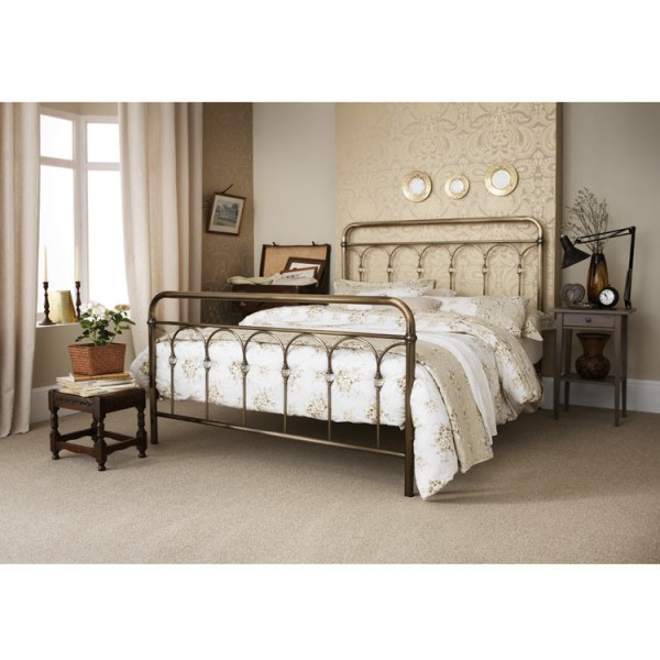 Home Furniture By Room Bedroom Furniture Beds Antique Brass Bed ...
