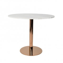 Zuiver Marble King 90' Dining Table Copper