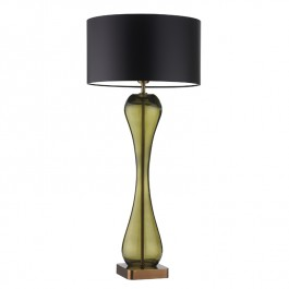 Heathfield Olive Glass Table Lamp - Mirande