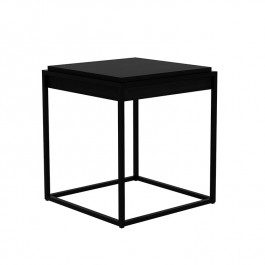Ethnicraft Black Oak Monolit Side Table