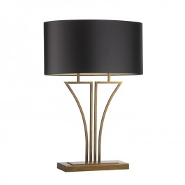 Heathfield Antique Brass Table Lamp - Yves
