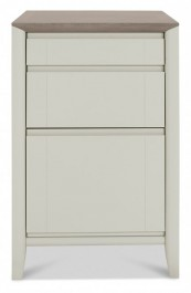 Bergen Washed Oak & Soft Grey Filing Cabinet