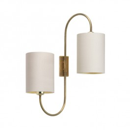 Heathfield Brass Wall Light Bronte