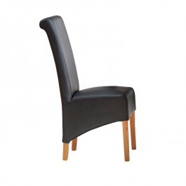 Toko Light Mango Leather Dining Chair