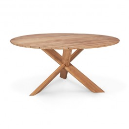 Ethnicraft Circle Teak Outdoor Dining Table