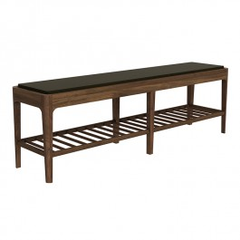 Ethnicraft Bench Spindle Upholstered