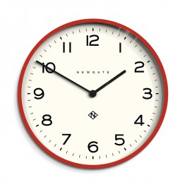 Newgate Wall Clock Echo Number One Red
