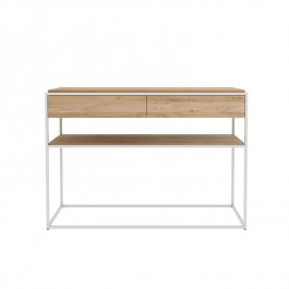 Ethnicraft Oak White Console Table Monolit