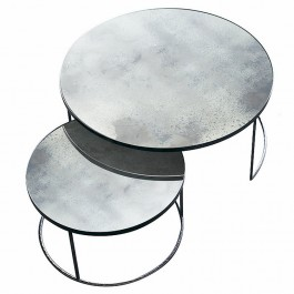 Notre Monde Clear Nesting Coffee Tables