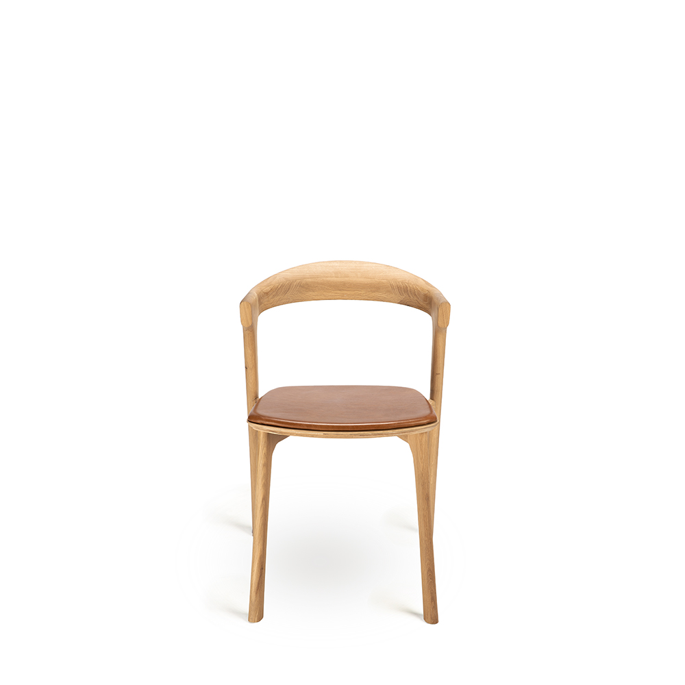 Admirable Ethnicraft Bok Dining Chair Oak Leather Alphanode Cool Chair Designs And Ideas Alphanodeonline