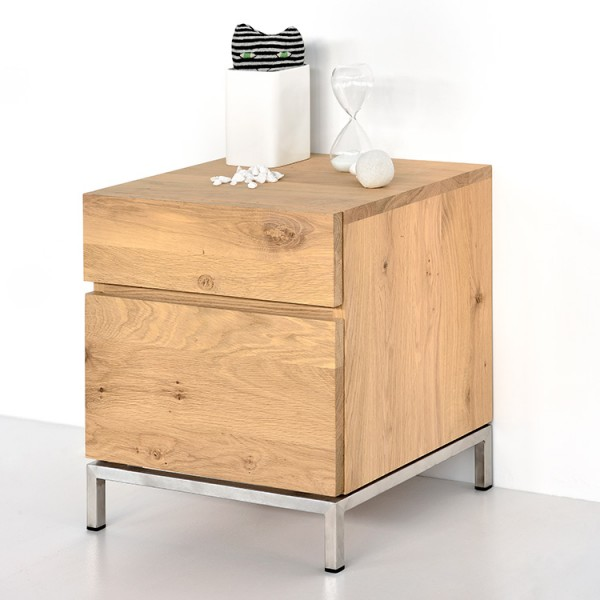 Ethnicraft Oak Bedside Table Ligna