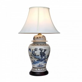 Oriental General Jar Table Lamps - Ancient Landscape