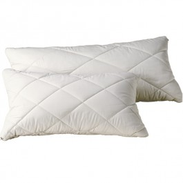 Quilted Organic Cotton Filled Pillow