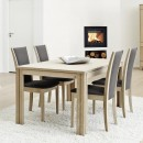 Skovby White Oiled Oak Extending Dining Table #23 (lifestyle, shown here with 'Skovby Oak Dining Chair #64')