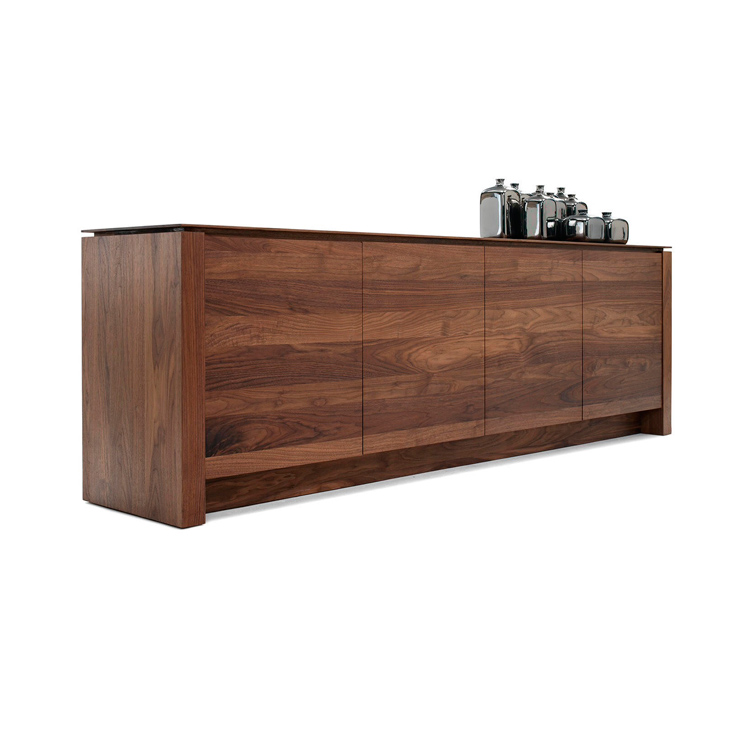 Solid Walnut Buffet ~ Kluskens solid walnut sideboard air modern