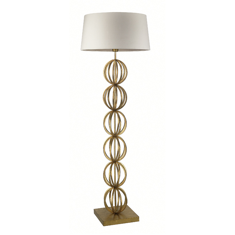 Contemporary Indoor Lighting Gold Floor Lamp