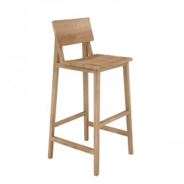 Ethnicraft Varnished Oak Bar Stool N4