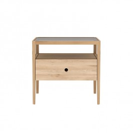 Ethnicraft Oak Bedside Table Spindle