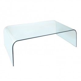 Glass Coffee Table - Arc