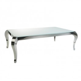 Glass & Steel Coffee Table - Moulin