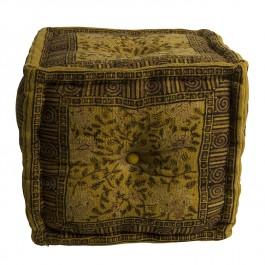 Dutchbone Indian Block Yellow Pouf